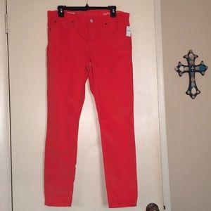 Gap orange jeans!